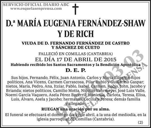 María Eugenia Fernández-Shaw y de Rich